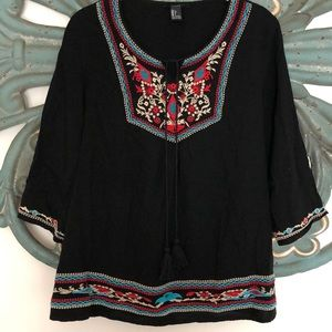 Cotton bohemian tunic